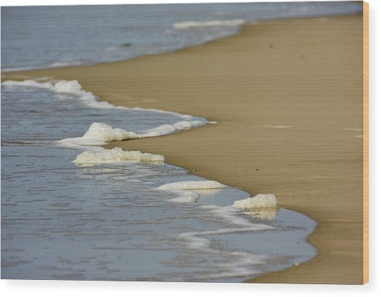 Receding Wave Wood Print