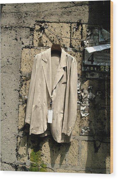 Recession - Question Mark Wood Print by John Bradburn