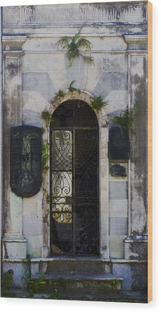 Recoleta Door Wood Print