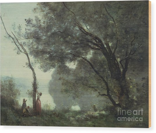 Recollections Of Mortefontaine Wood Print