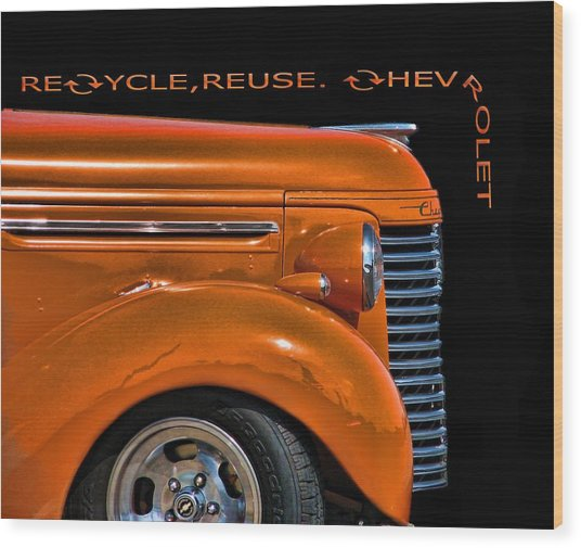 Recycle Wood Print by Kevin  Sherf