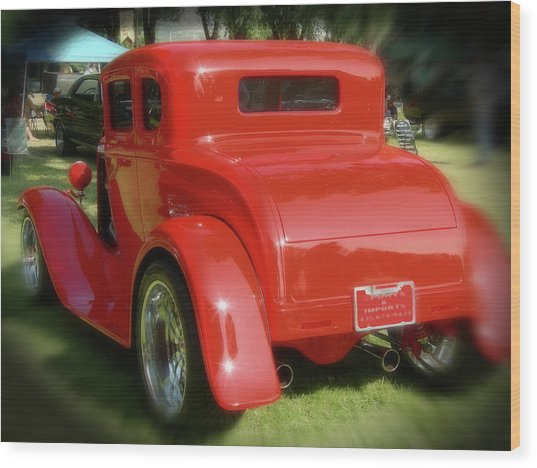 Red - Many Parts - Hot Rod Wood Print