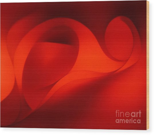 Red Abstract 4 Wood Print
