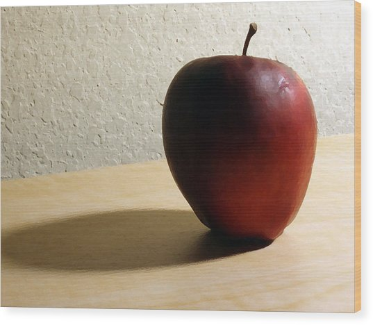 Red Apple Wood Print by Eric Forster