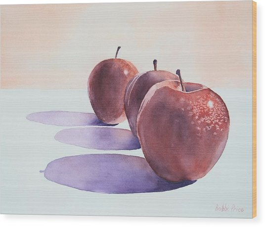 Red Apples Wood Print by Bobbi Price