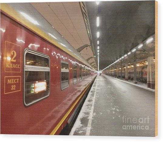 Red Arrow Express Wood Print