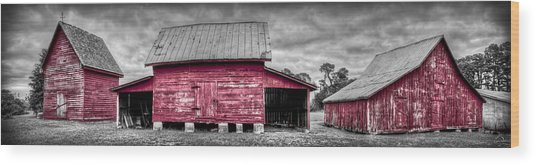 Red Barns At Windsor Castle Wood Print