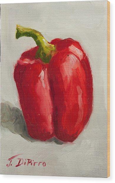 Red Bell Pepper Wood Print by Joni Dipirro