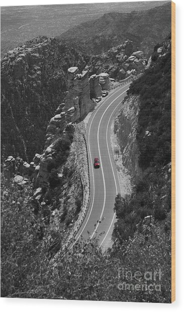 Red Car Wood Print by Jim Wright