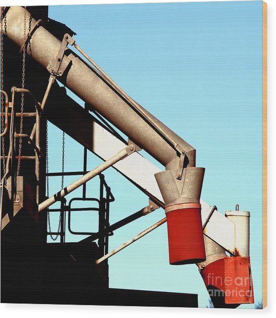 Wood Print featuring the photograph Red Chutes by Stephen Mitchell