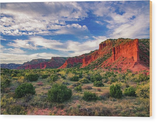 Red Cliffs Of Caprock Canyon Wood Print