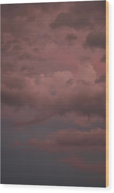 Wood Print featuring the photograph Red Clouds Iv by Dylan Punke