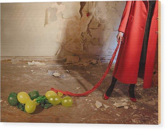 Red Coat #4810 Wood Print