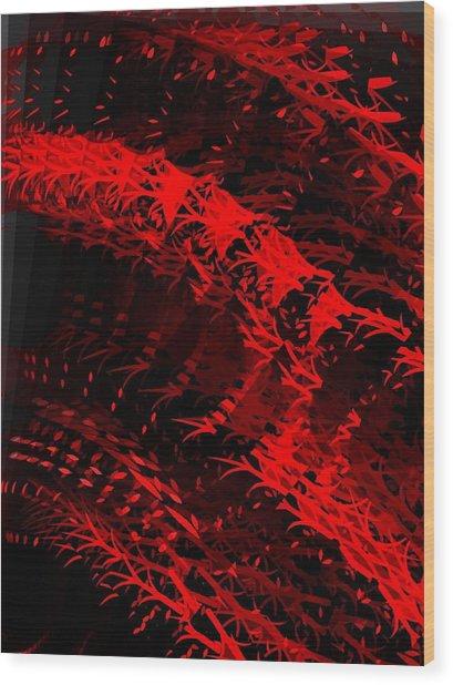 Red Wood Print by Cooky Goldblatt
