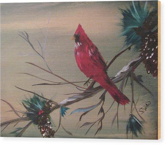 Red Drifter Wood Print