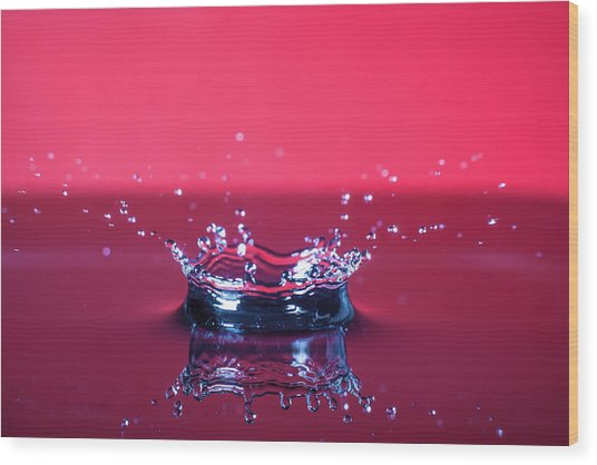 Red Drop Wood Print