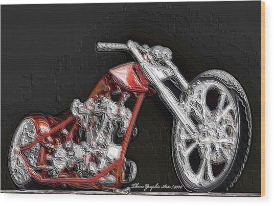 Red Embossed Custom Wood Print by Wayne Bonney