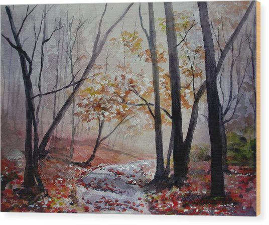 Red Evrywhere  Wood Print
