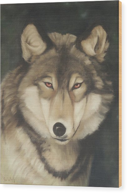 Red Eyes Wood Print by Steven Welch