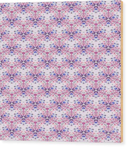 Red Fabric Pattern Wood Print
