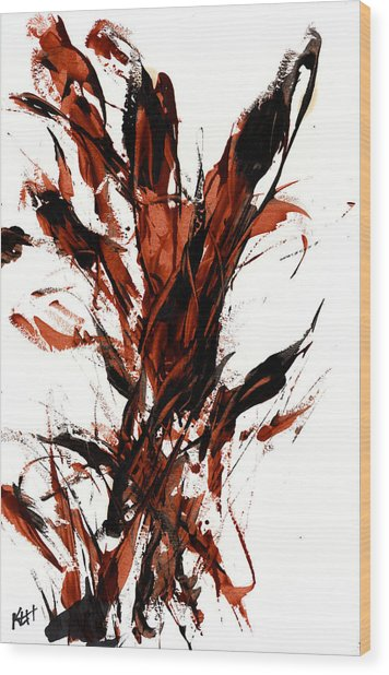 Red Flame 66.121410 Wood Print