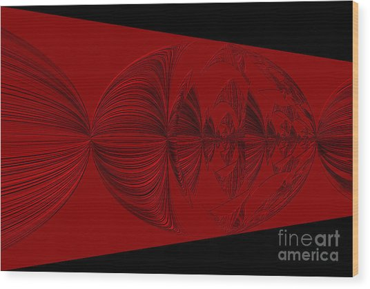 Red And Black Design. Art Wood Print
