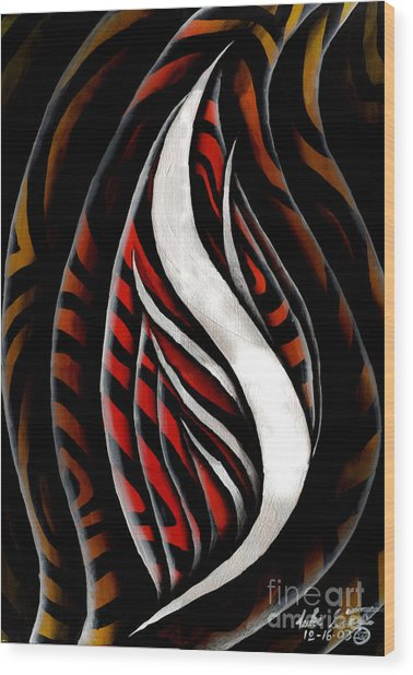 Red Flower Study #1 Wood Print