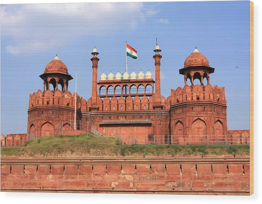 Red Fort New Delhi Wood Print