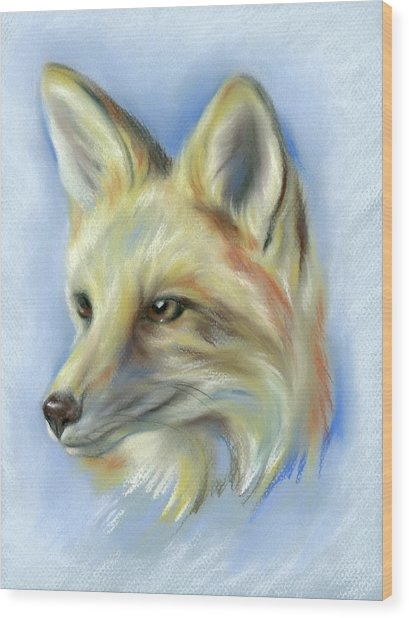Red Fox Portrait Wood Print
