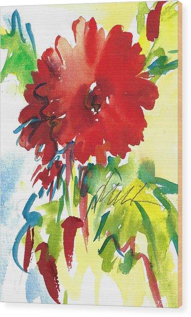 Red Gerberas Wood Print