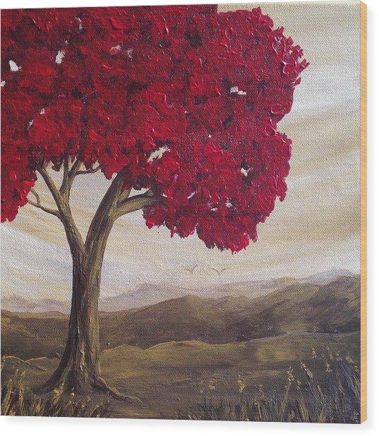 Red Glory Wood Print