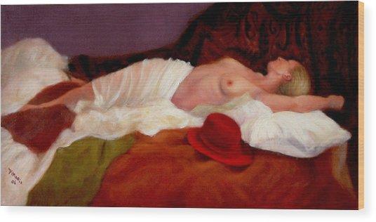 Red Hat 6 Wood Print