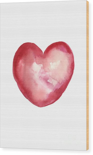 Red Heart Valentine's Day Gift Wood Print