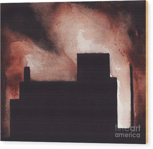 Red Hook Wood Print by Ron Erickson