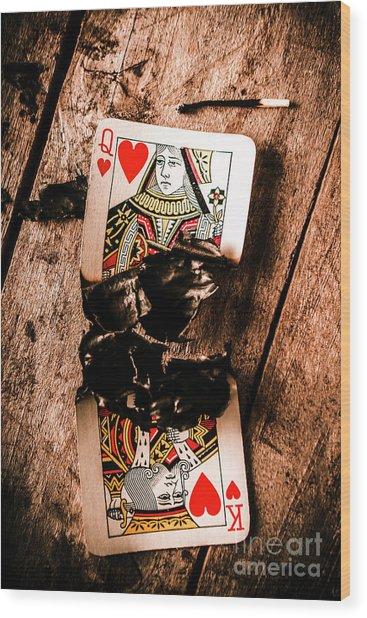Red Hot Blackjack Wood Print