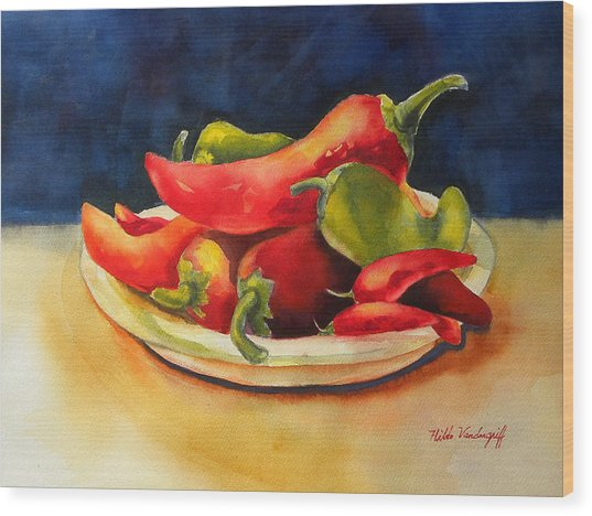Red Hot Chile Peppers Wood Print