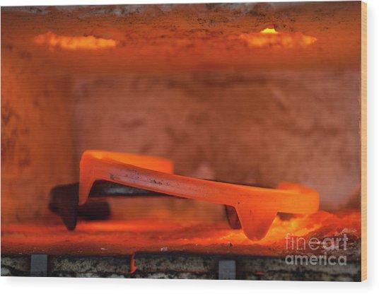 Red Hot Horseshoe Wood Print