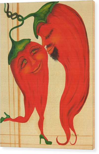 Red Hot Lovers Wood Print by RJ McNall