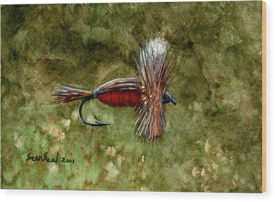 Red Humpy Wood Print