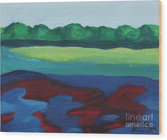Red Lake Wood Print