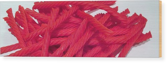 Red Licorice  Wood Print