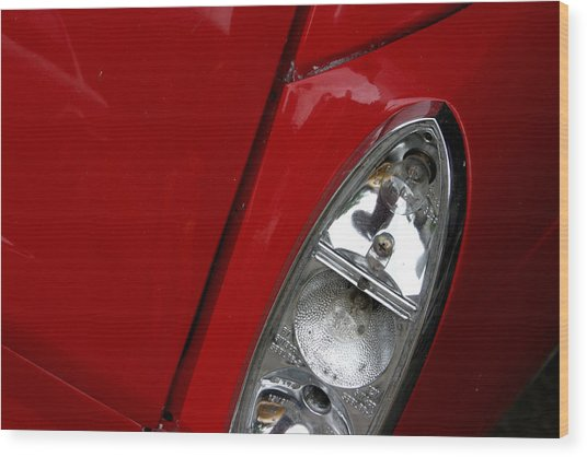Red Light For Go Wood Print by Jez C Self