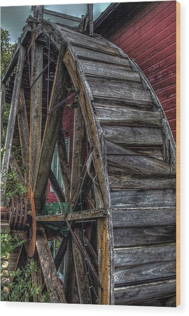 Red Mill Wheel 2007 Wood Print