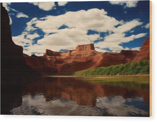 Red Mountain Wood Print by Lori DeBruijn