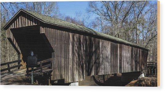 Red Oak Creek Covered Bridge Wood Print