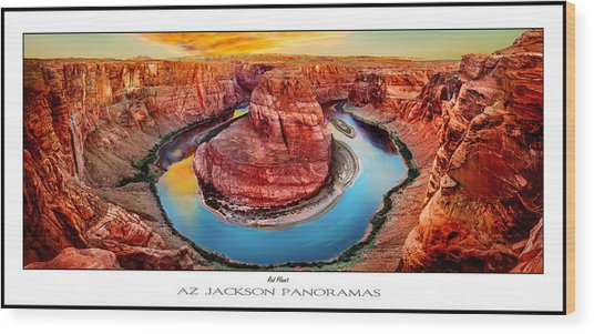 Red Planet Panorama Poster Print Wood Print by Az Jackson