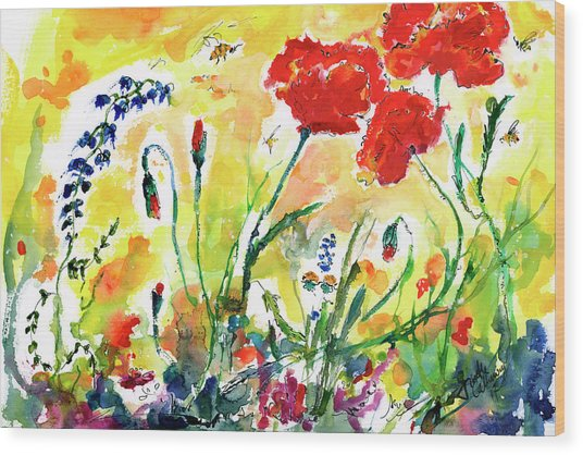 Red Poppies Provence 2017 Wood Print