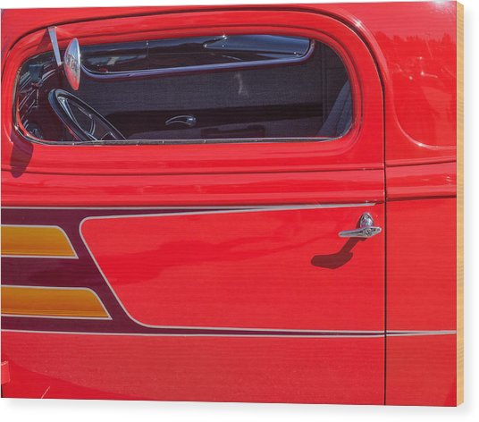 Red Racer Wood Print