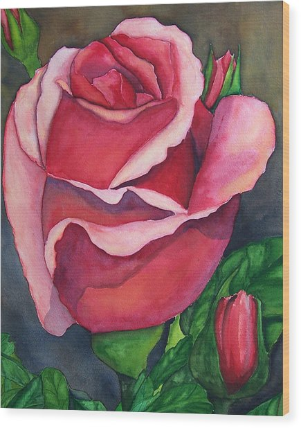Red Red Rose Wood Print by Robert Thomaston