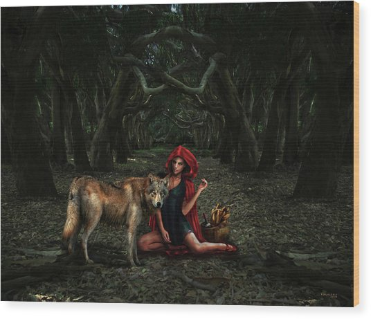 Red Riding Hood Wood Print